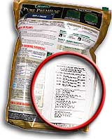 Grass see bag label